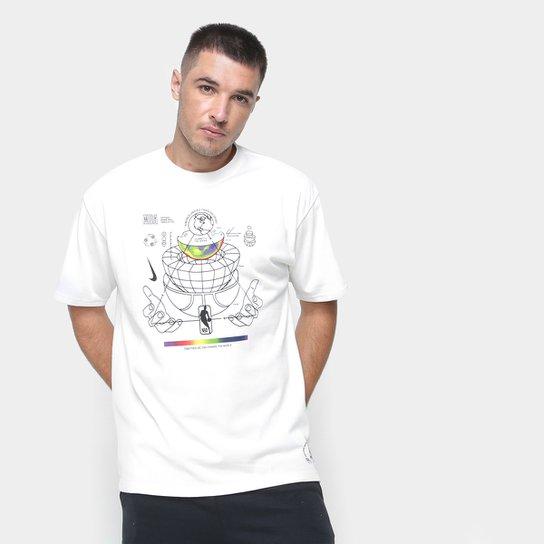 Camiseta Nike NBA Team 31 Move 2 Zero Masculina - Branco