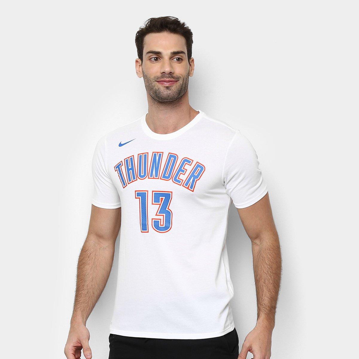 8029b2074 Camiseta Nike Oklahoma City Thunder Es N N Masculina - Branco - Compre Agora