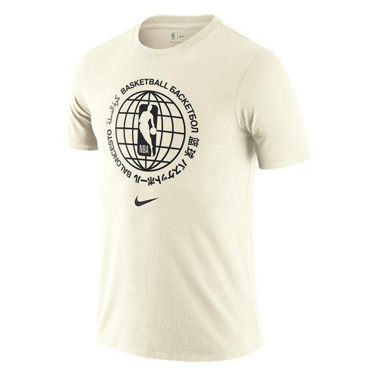 Camiseta Nike Team 31 Courtside Masculina - Off White
