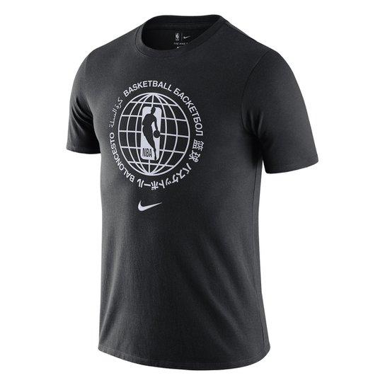 Camiseta Nike Team 31 Courtside Masculina - Preto