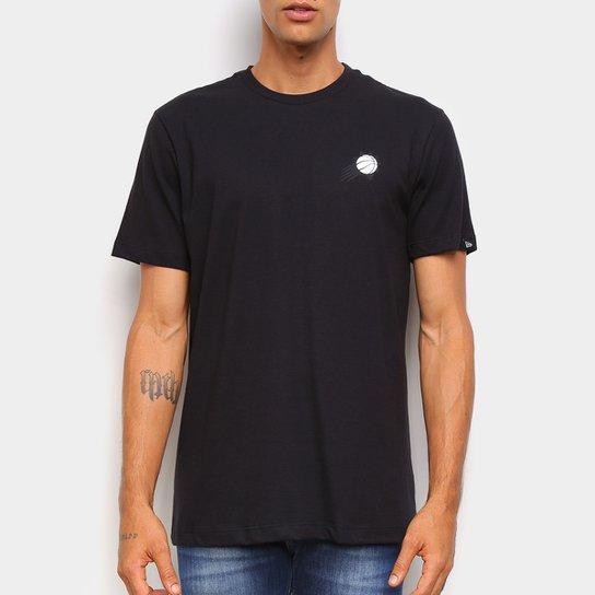 Camiseta Plack Pack NBA Phoenix Suns New Era Logo Phosun Masculina - Preto
