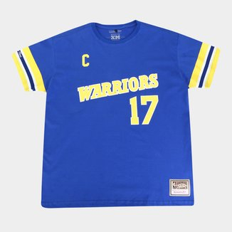 Camiseta Plus Size NBA Golden State Warriors nº 17 Chris Mullin Mitchell & Ness Masculina