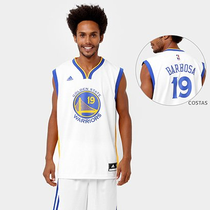 1d603c399 Camiseta Regata Adidas NBA Golden State Warriors - Barbosa - Compre Agora