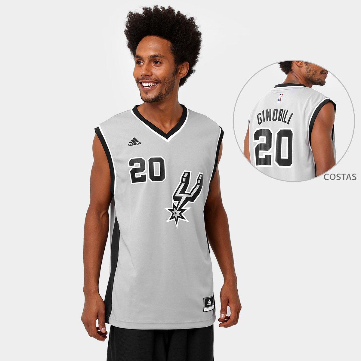 aac4cb5cc Camiseta Regata Adidas NBA San Antonio Spurs - Ginobili - Compre Agora