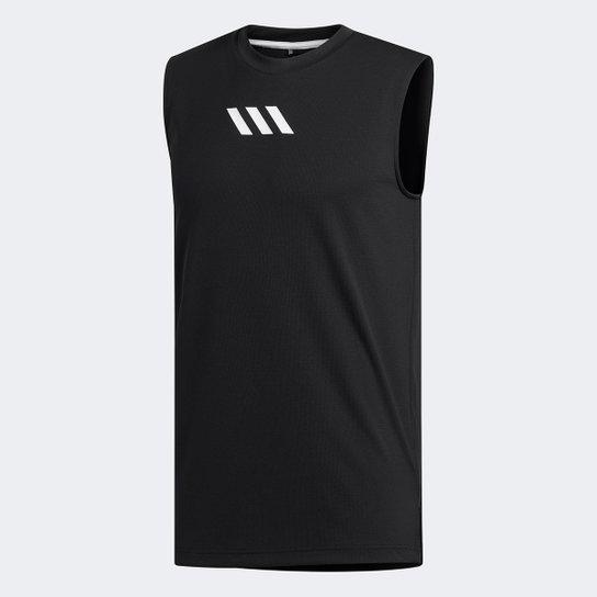 Camiseta Regata Adidas Q2 Lou Masculina - Preto