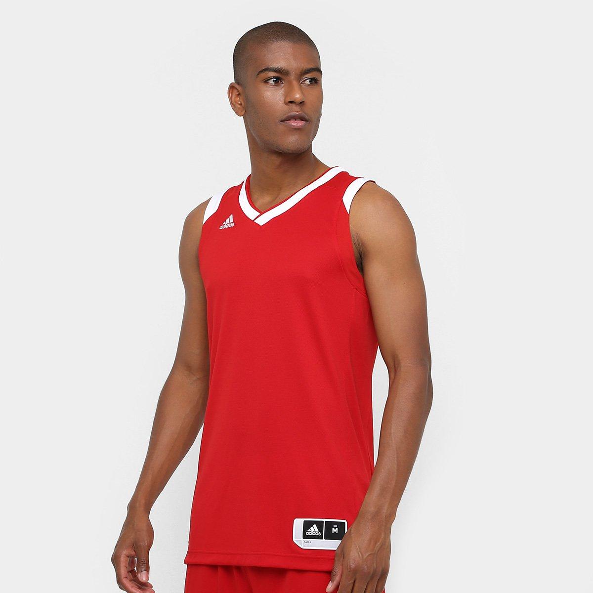 Camiseta Regata Adidas Teamstock Masculina - Vermelho - Compre Agora ... 460118425f2