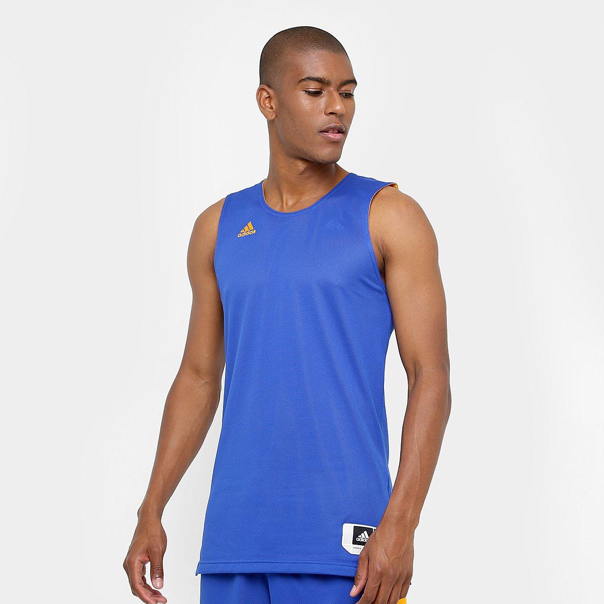 Camiseta Regata Adidas Treino Reversivel Masculina - Azul - Compre Agora  234a55a010c