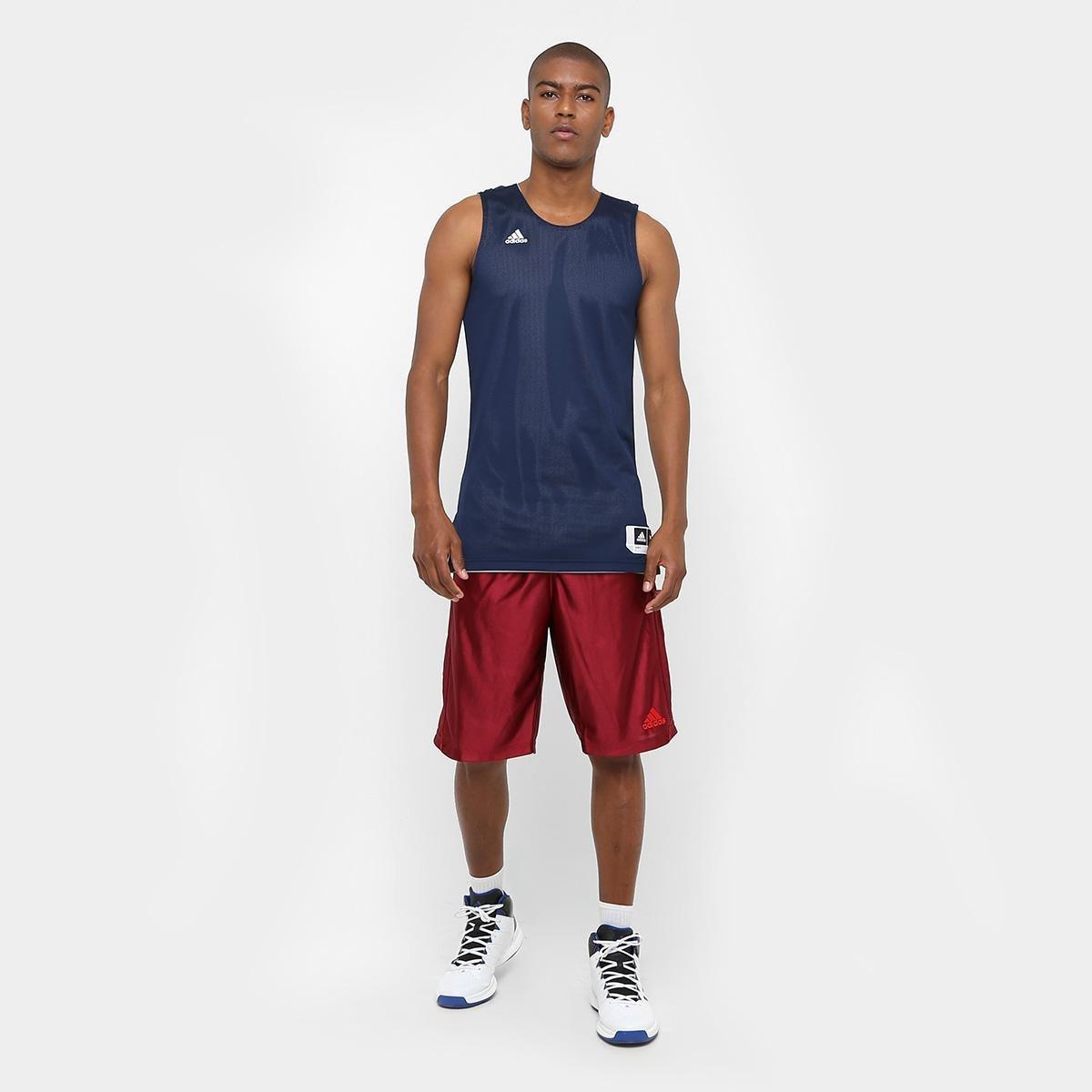 Camiseta Regata Adidas Treino Reversivel Masculina - Marinho ... 0f20dcadc7320