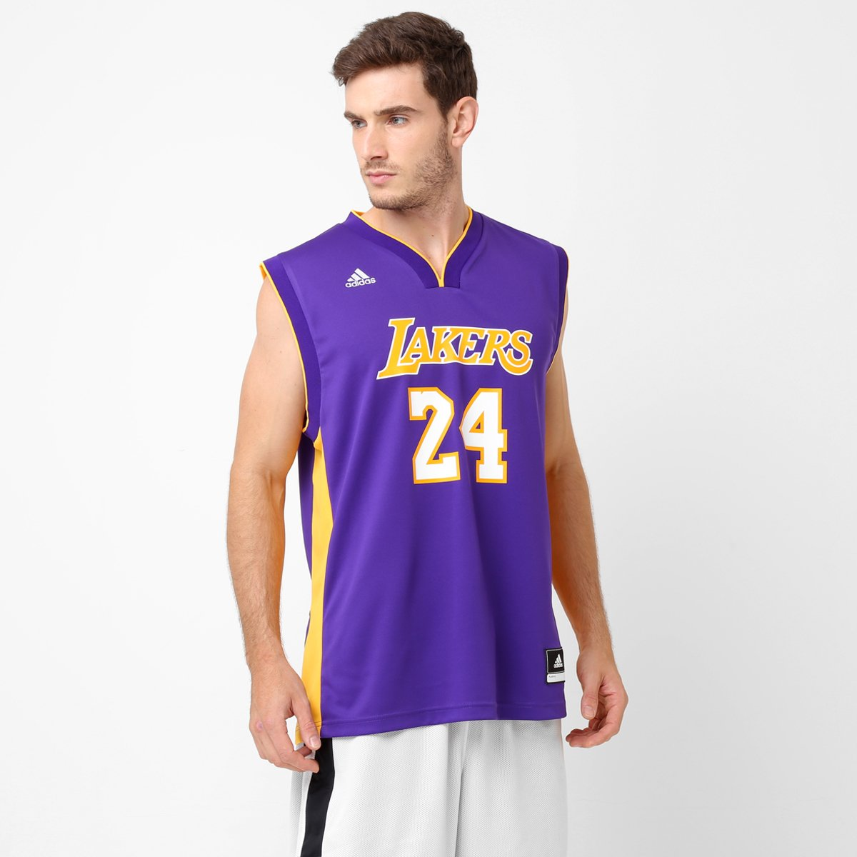 e3436607d Camiseta Regata NBA Adidas Los Angeles Lakers Road - Bryant - Compre Agora