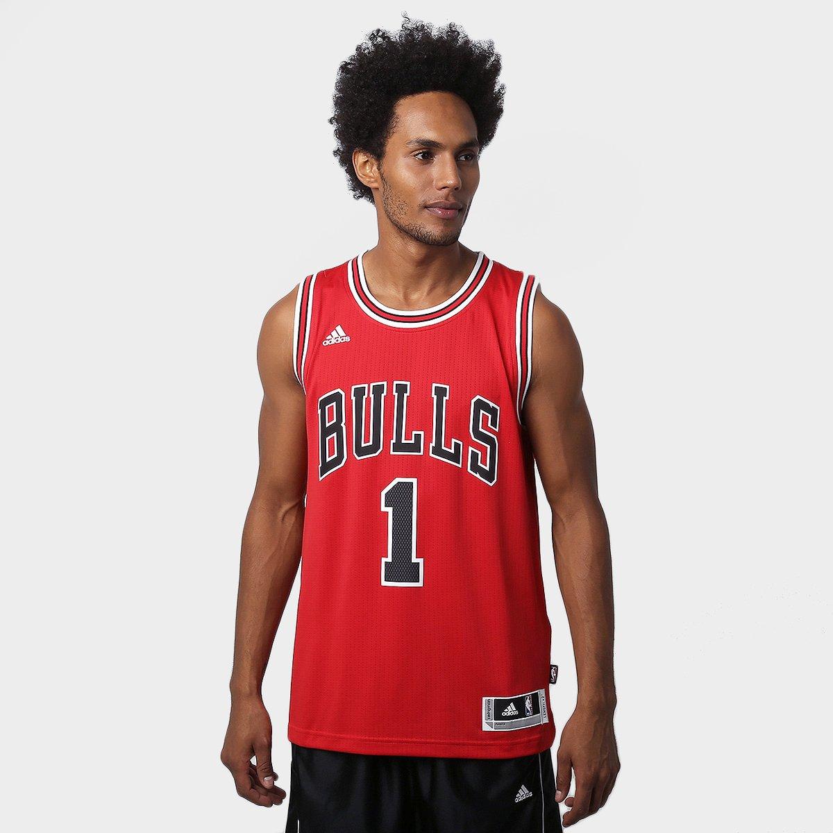 c99388b54614c Camiseta Regata NBA Adidas Swingman Chicago Bulls - Rose - Compre Agora