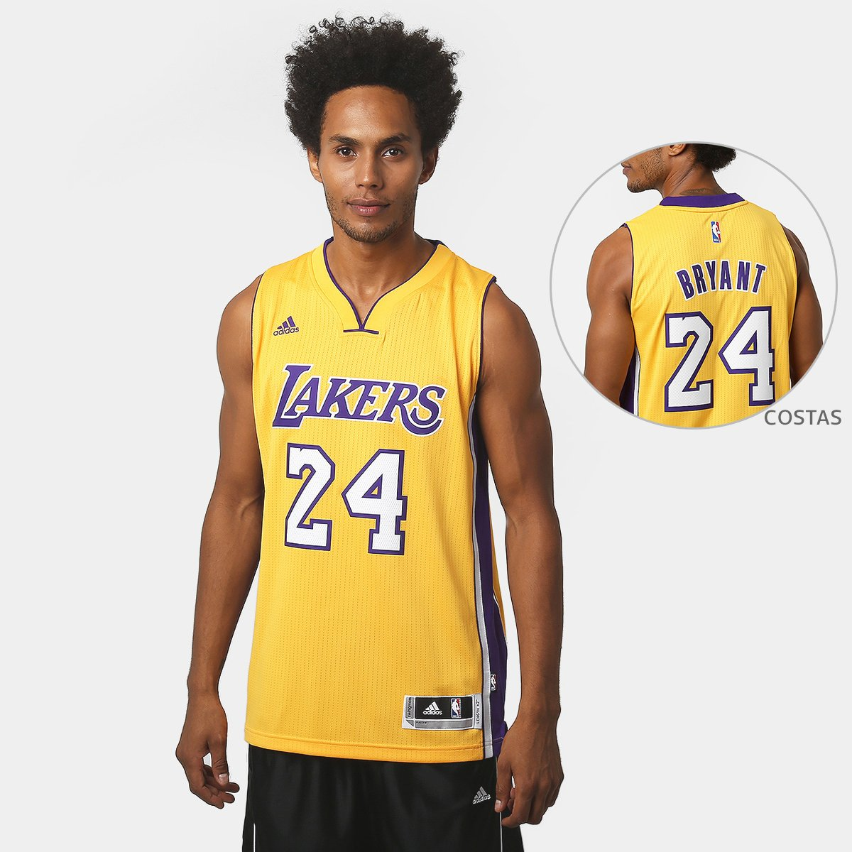 f577fe085def Camiseta Regata NBA Adidas Swingman Los Angeles Lakers - Kob - Compre Agora