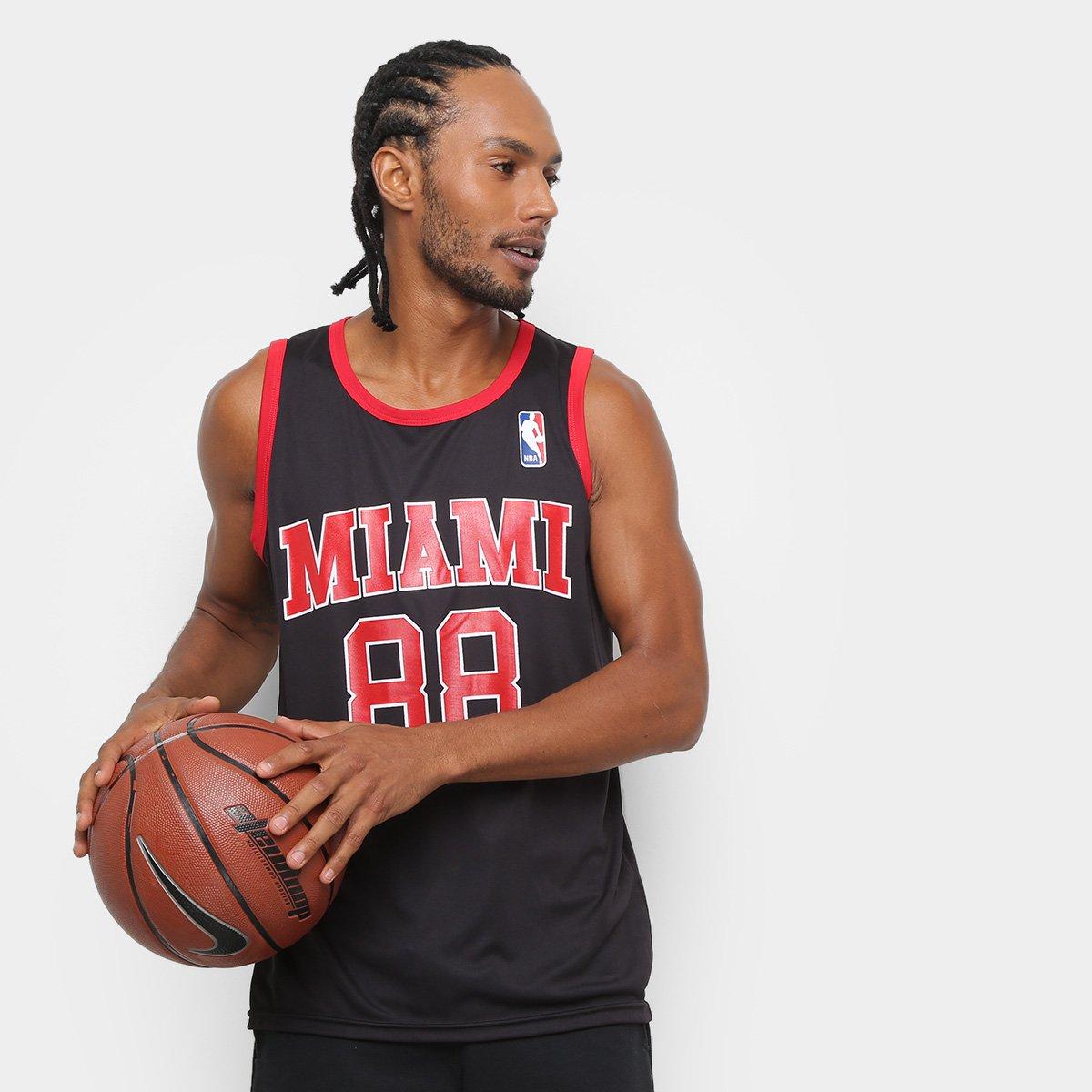 1a6241337 Camiseta Regata NBA Retro Miami Masculina - Compre Agora