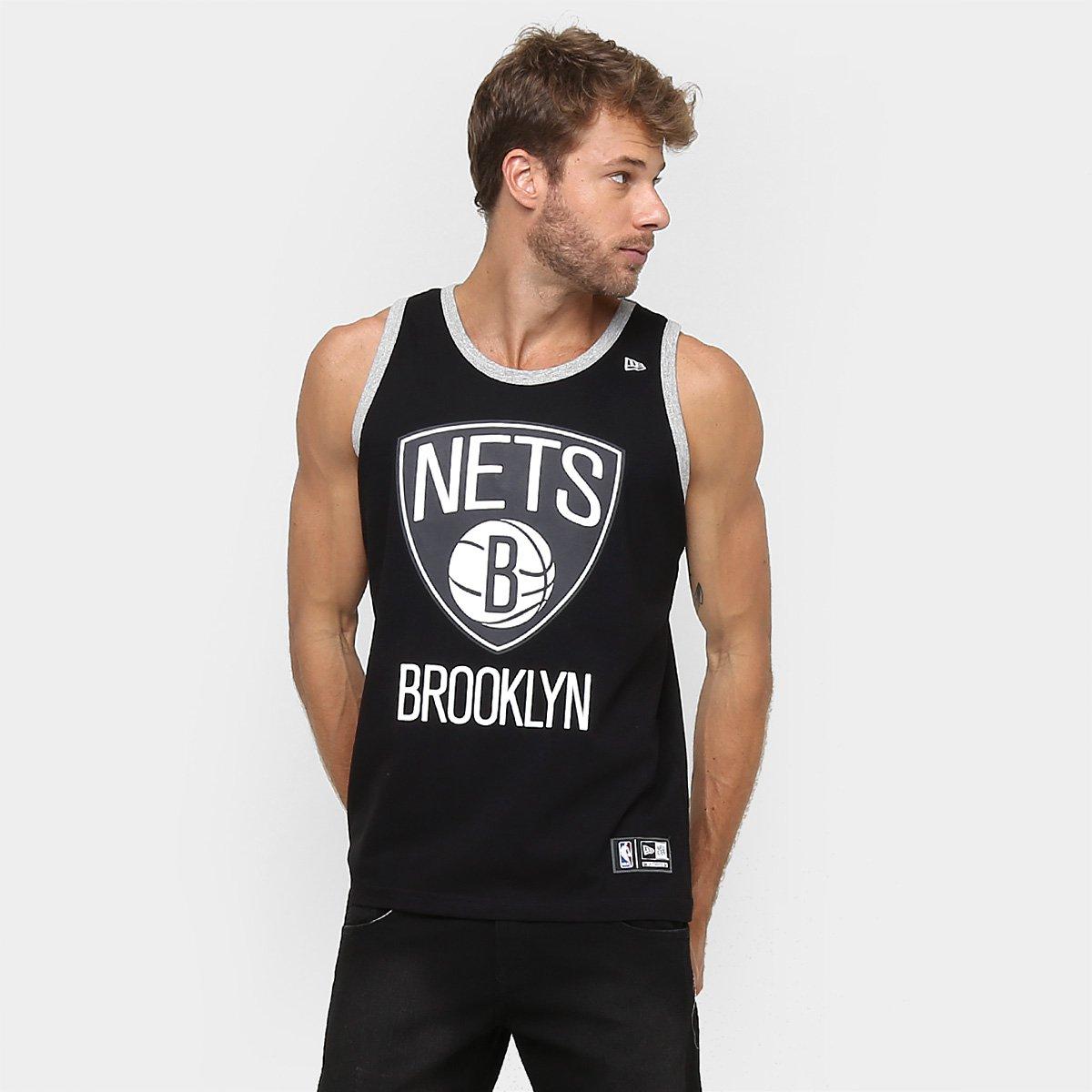 93fd3184de Camiseta Regata New Era NBA Basic Logo Brooklyn Nets | Loja NBA
