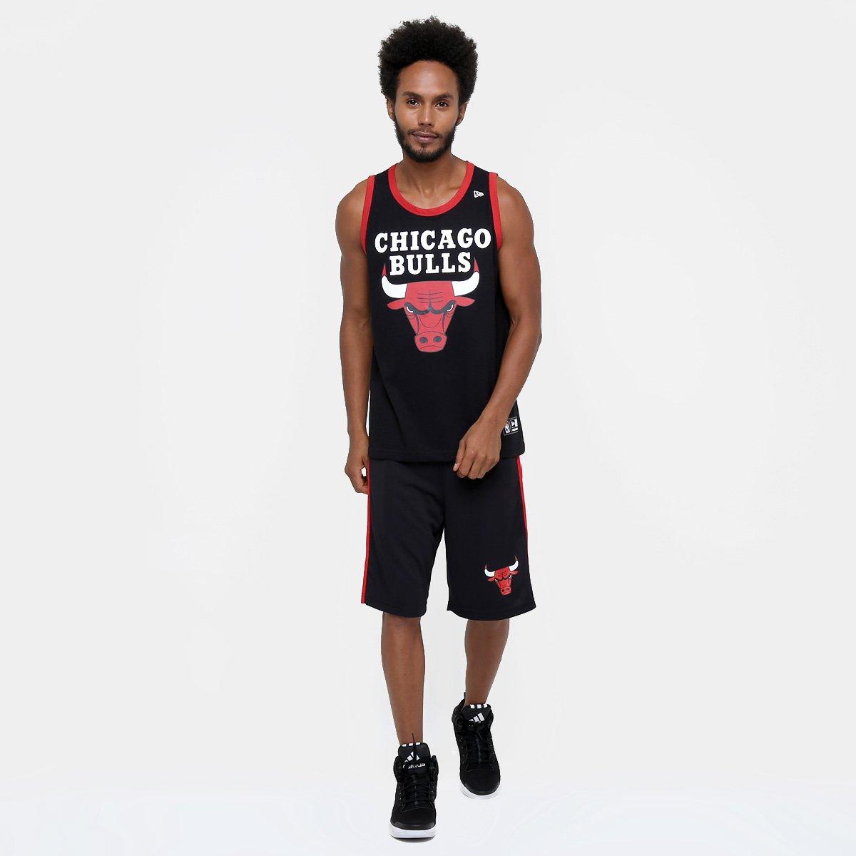 Camiseta Regata New Era NBA Basic Logo Chicago Bulls - Compre Agora ... 92a5016202b