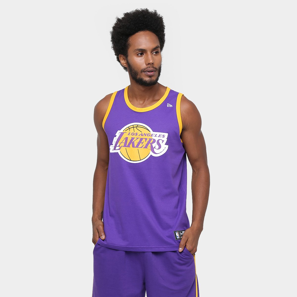 ac66ffc5d Camiseta Regata New Era NBA Basic Logo Los Angeles Lakers - Compre Agora