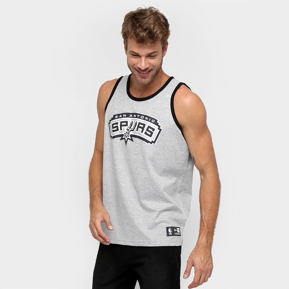 9a87bcfa3 Camiseta Regata New Era NBA Basic Logo San Antonio Spurs - Compre Agora