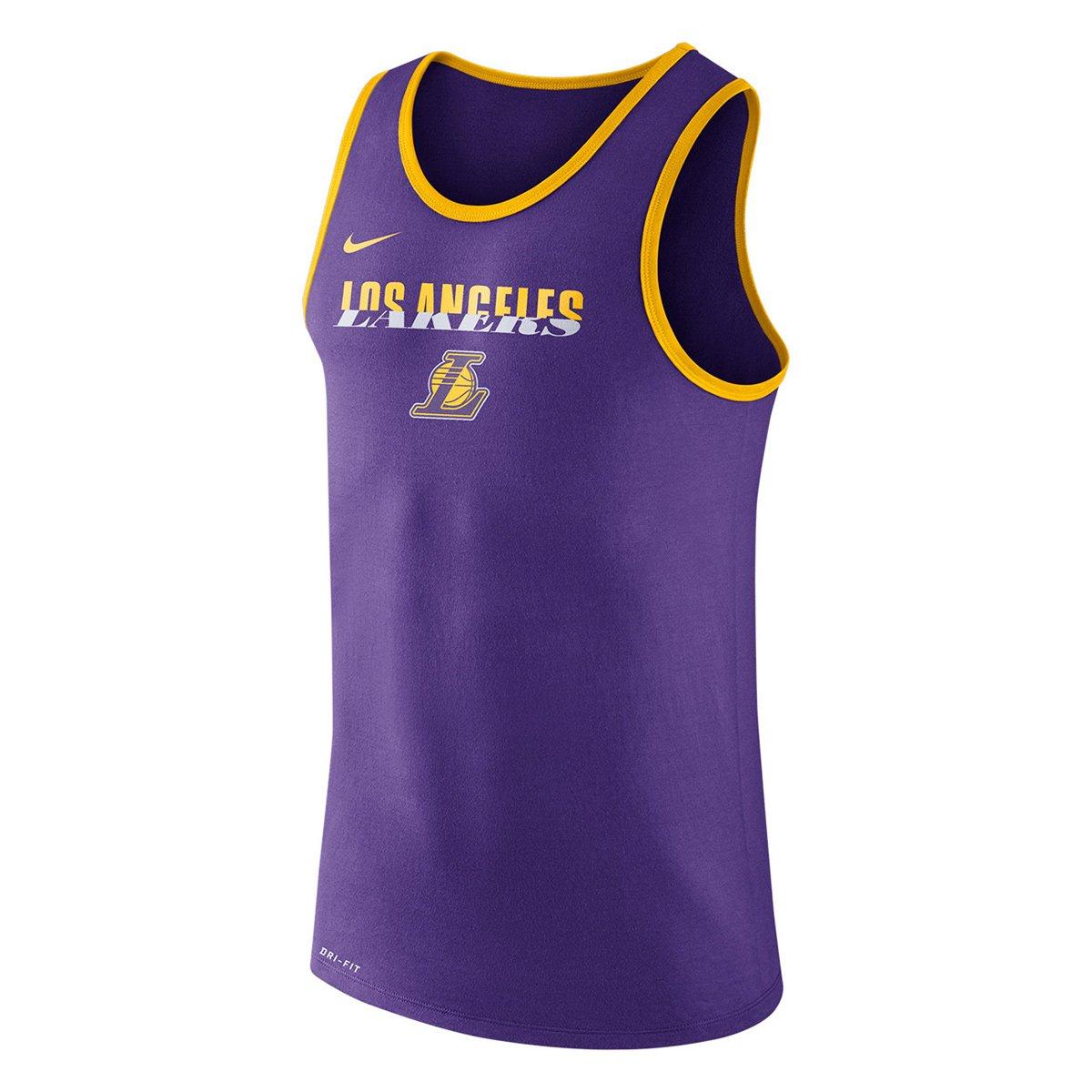 6964e2faa9d5c Camiseta Regata Nike NBA Los Angeles Lakers Logo Masculina - Compre Agora