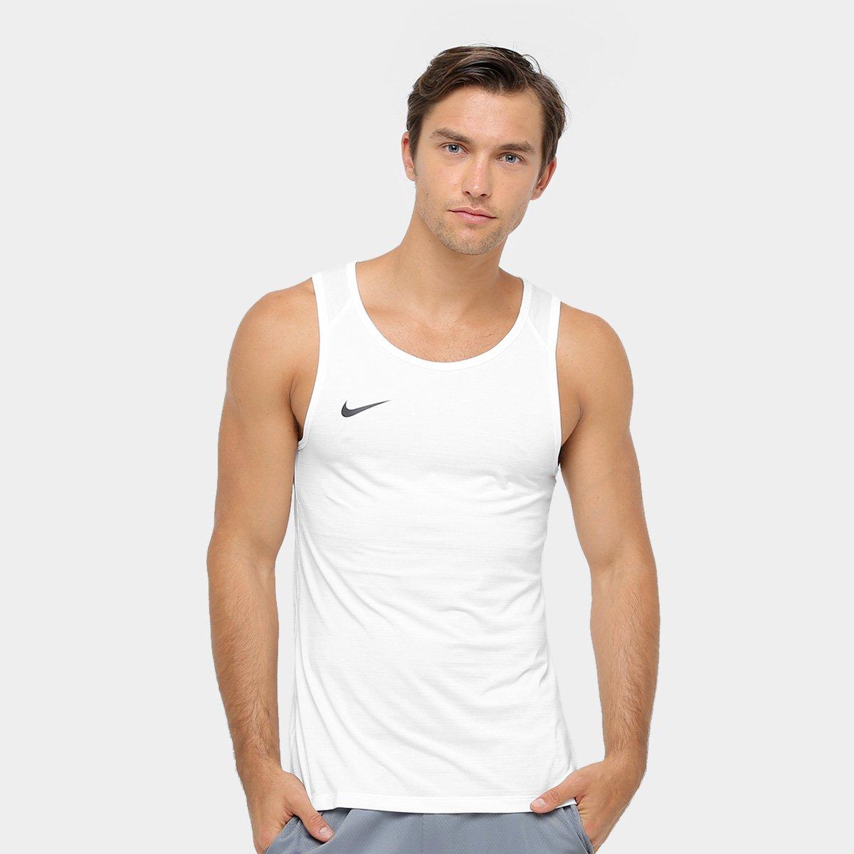 163ac73b37eb4 Camiseta Regata Nike SL Crossover - Branco - Compre Agora