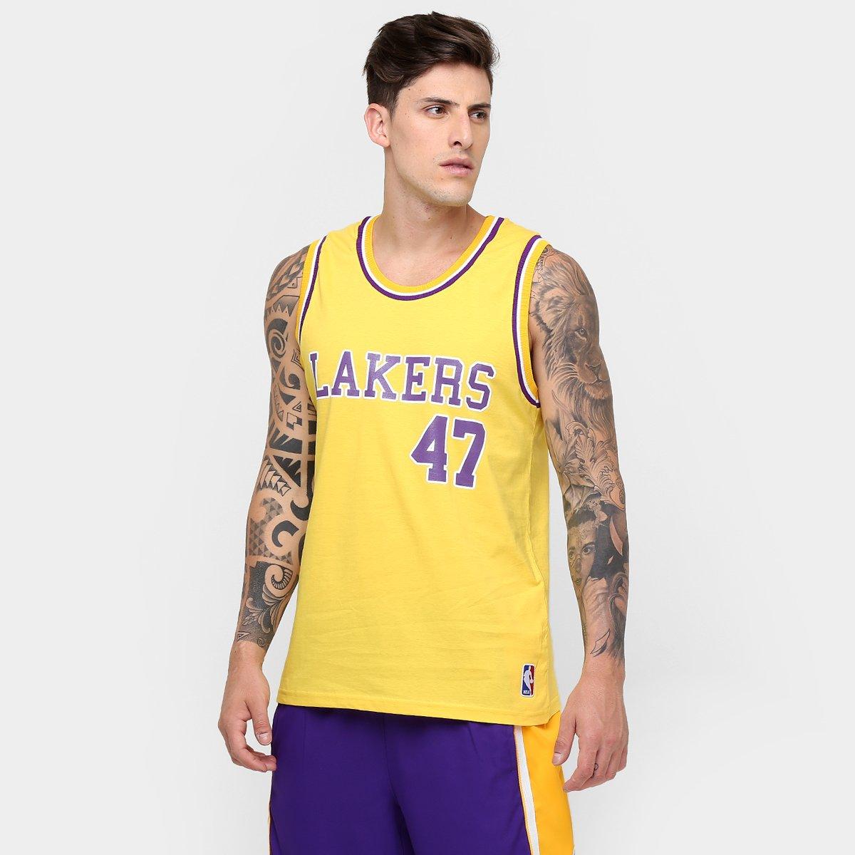 69a53473fbe63 Camiseta Regata Retrô NBA Los Angeles lakers - Compre Agora
