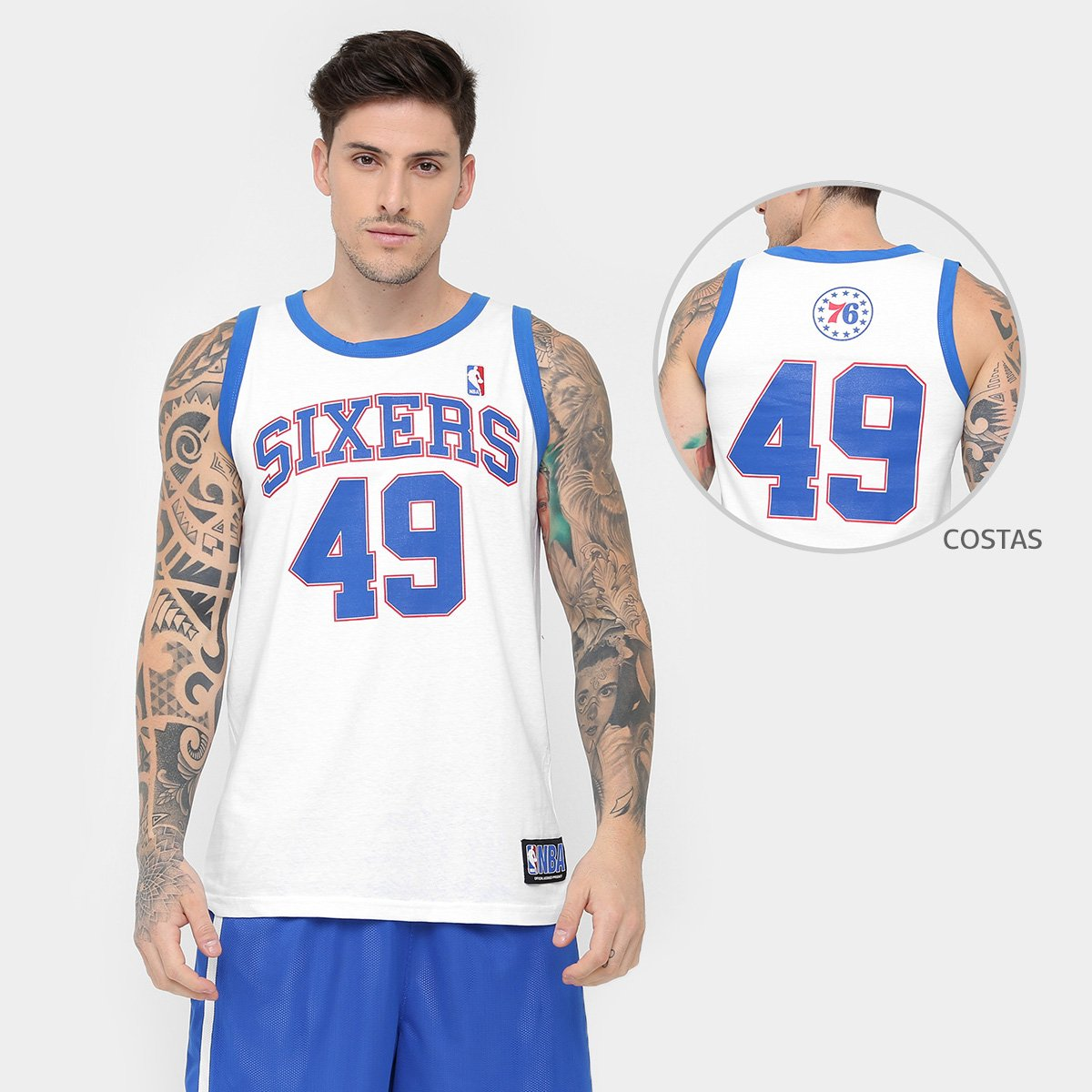 8553d8e11 Camiseta Regata Retrô NBA Philadelphia 76Ers - Compre Agora