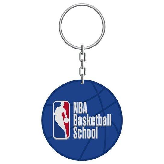 Chaveiro de Silicone NBA Basketball School - Azul
