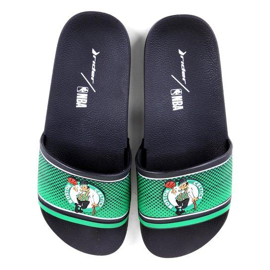 Chinelo Slide NBA Boston Celtics Rider Full 86 Masculino - Verde+Branco