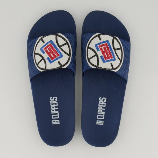 Chinelo Slide NBA Los Angeles Clippers Rider Masculino - Azul+Branco