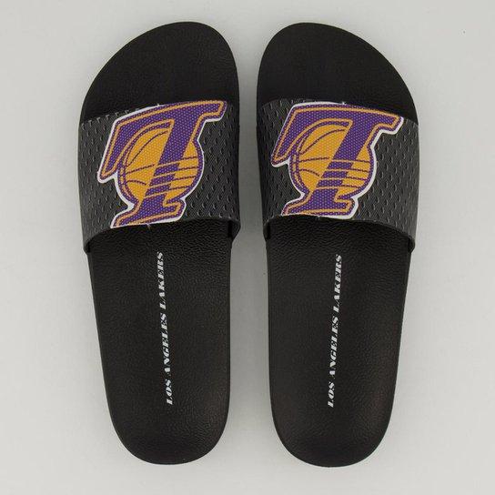Chinelo Slide NBA Los Angeles Lakers Rider Full 86 Masculino - Preto+Roxo