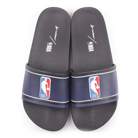 Chinelo Slide NBA Rider Full 86 Masculino - Azul+Branco