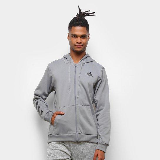 Jaqueta de Moletom Adidas Sport Bb Masculina - Cinza+Preto