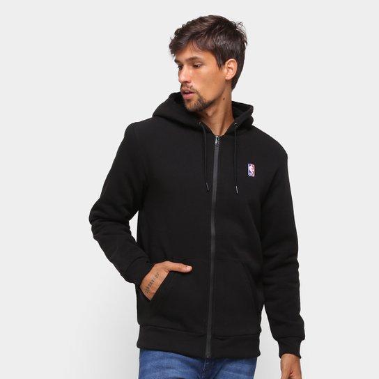 Jaqueta Moletom NBA New Era Fur Básica Masculina - Preto