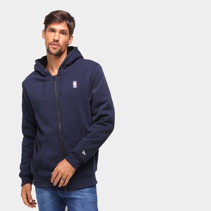 Jaqueta Moletom NBA New Era Fur Básica Masculina