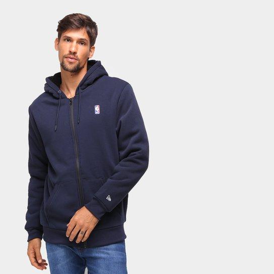 Jaqueta Moletom NBA New Era Fur Básica Masculina - Marinho