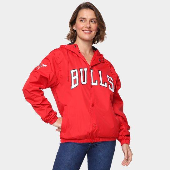 Jaqueta NBA Chicago Bulls New Era College Script Feminina - Vermelho