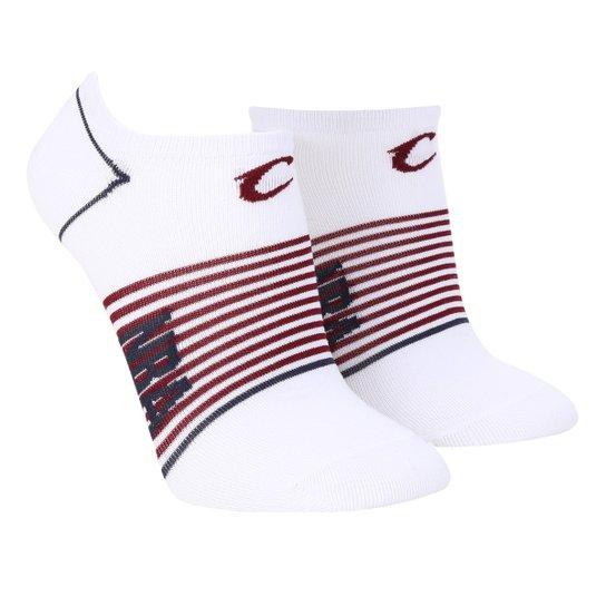 Meia NBA Cano Curto Cleveland Cavaliers Stripes - Branco+Vinho