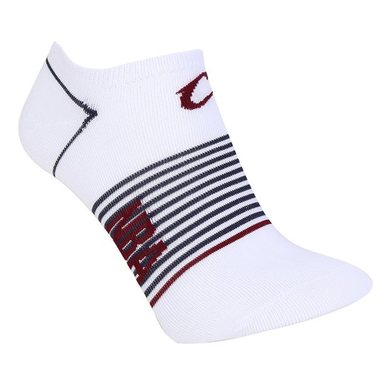 Meia NBA Cano Curto Cleveland Cavaliers Stripes - Branco+Marinho