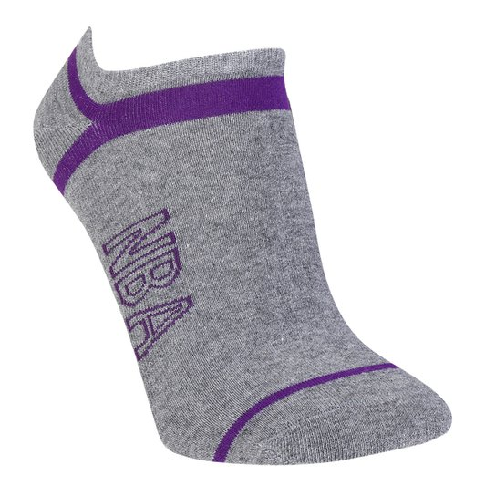 Meia NBA Cano Curto Logo Stripes - Mescla