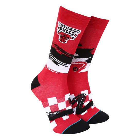 Meia Stance NBA Chicago Bulls Arena Collection Wave Racer Masculina - Vermelho