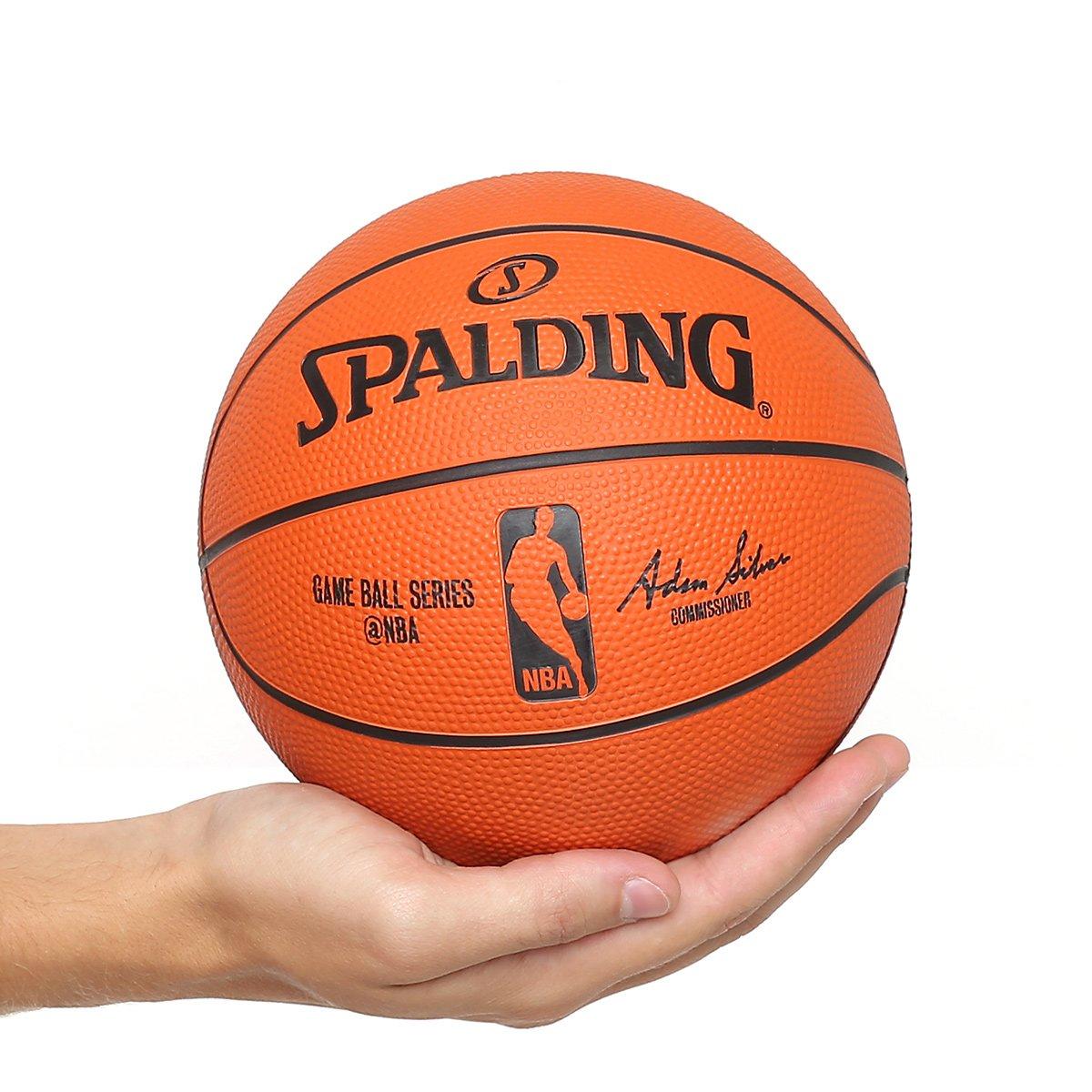 736bc610a Mini Bola Basquete Spalding NBA Game Ball Réplica Outdoor Rubber Tam 3 -  Laranja - Compre Agora