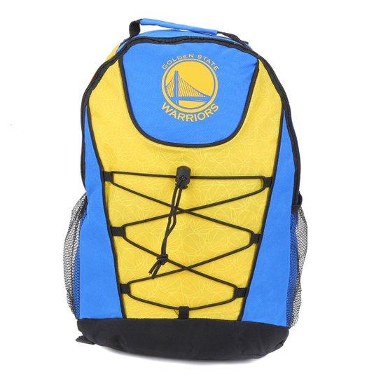Mochila NBA Golden State Warriors Bungee  - Azul+amarelo