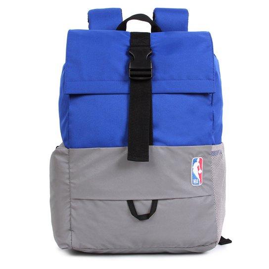 Mochila NBA Logoman Sport - Azul+Cinza