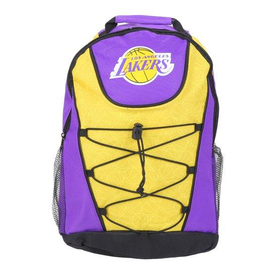 Mochila NBA Los Angeles Lakers Maccabi Art - Roxo+Amarelo
