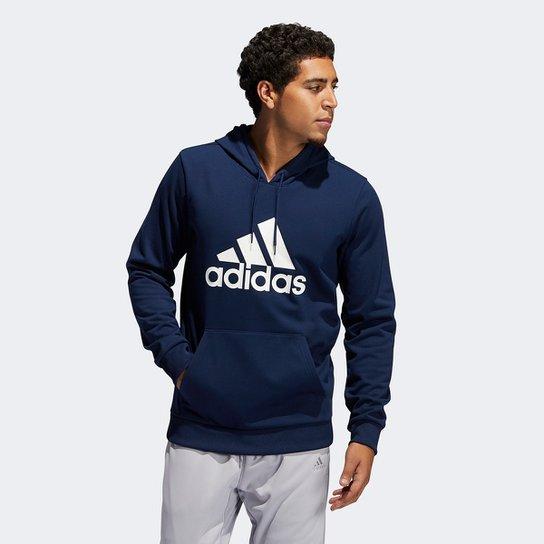 Moletom Adidas Ld Cz Hoody Canguru Masculino - Marinho+Branco