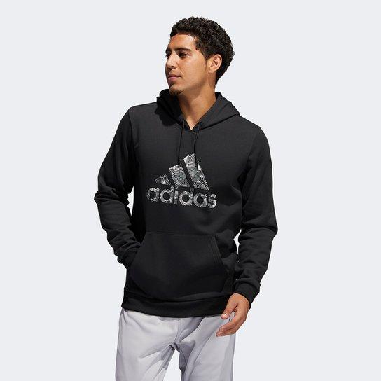 Moletom Adidas Ld Cz Hoody Canguru Masculino - Preto+Cinza