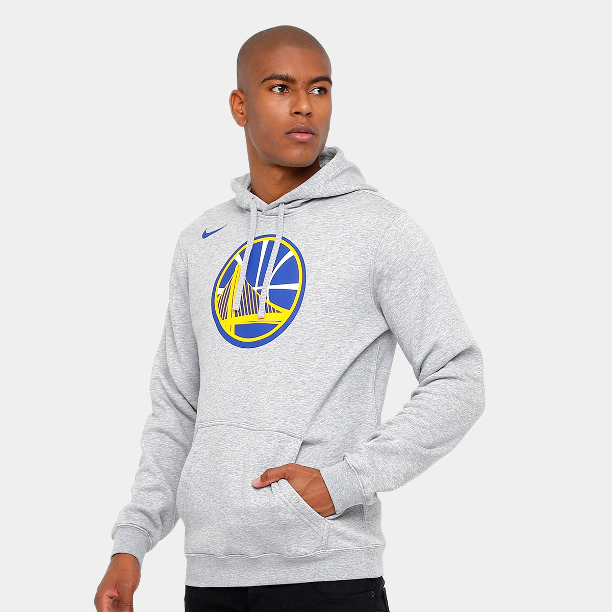 b84d04ebd Moletom Golden State Warriors Nike NBA Club Logo Masculina - Compre Agora
