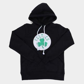 Moletom NBA Boston Celtics Juvenil Canguru Masculino