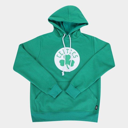 Moletom NBA Boston Celtics Juvenil Canguru Masculino - Verde
