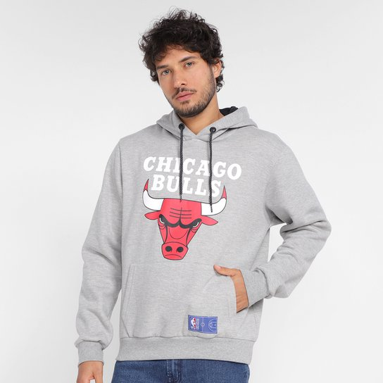Moletom NBA Chicago Bulls Canguru Masculino - Mescla