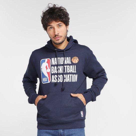 Moletom NBA Estampado Com Capuz Masculino - Marinho