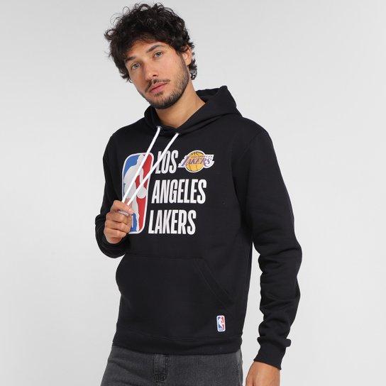 Moletom NBA Los Angeles Lakers Com Capuz Masculino - Preto